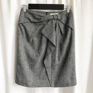 Banana Republic grey wool blend bow skirt